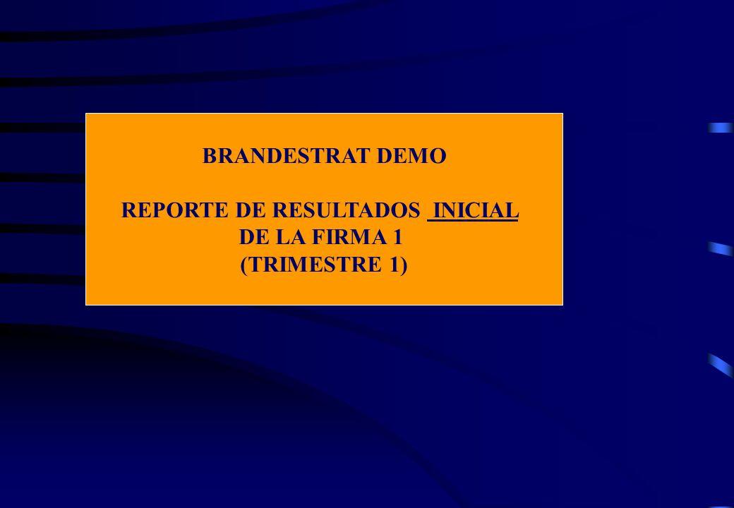 REPORTE DE RESULTADOS INICIAL DE LA FIRMA 1