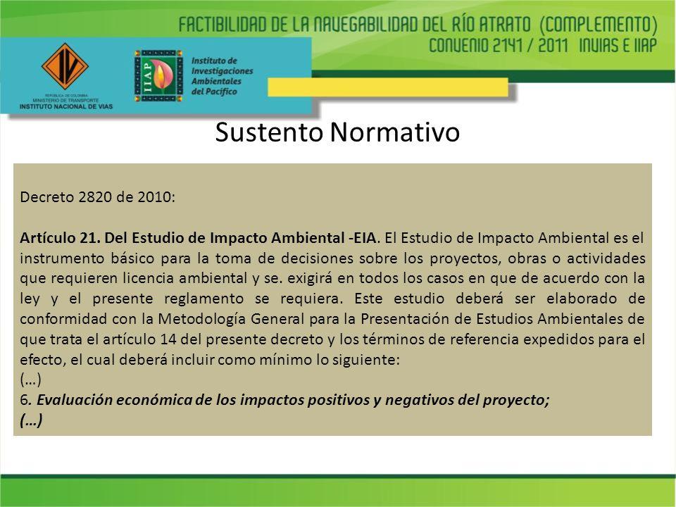 Sustento Normativo Decreto 2820 de 2010: