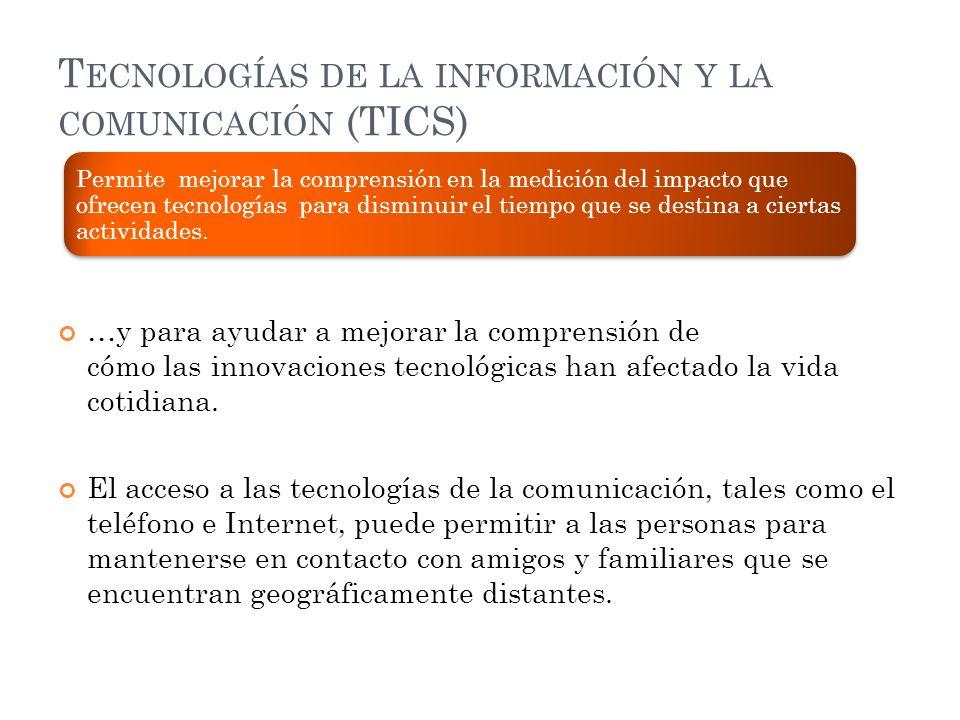 Tecnologías de la información y la comunicación (TICS)