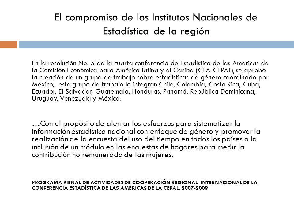 El compromiso de los Institutos Nacionales de Estadística de la región