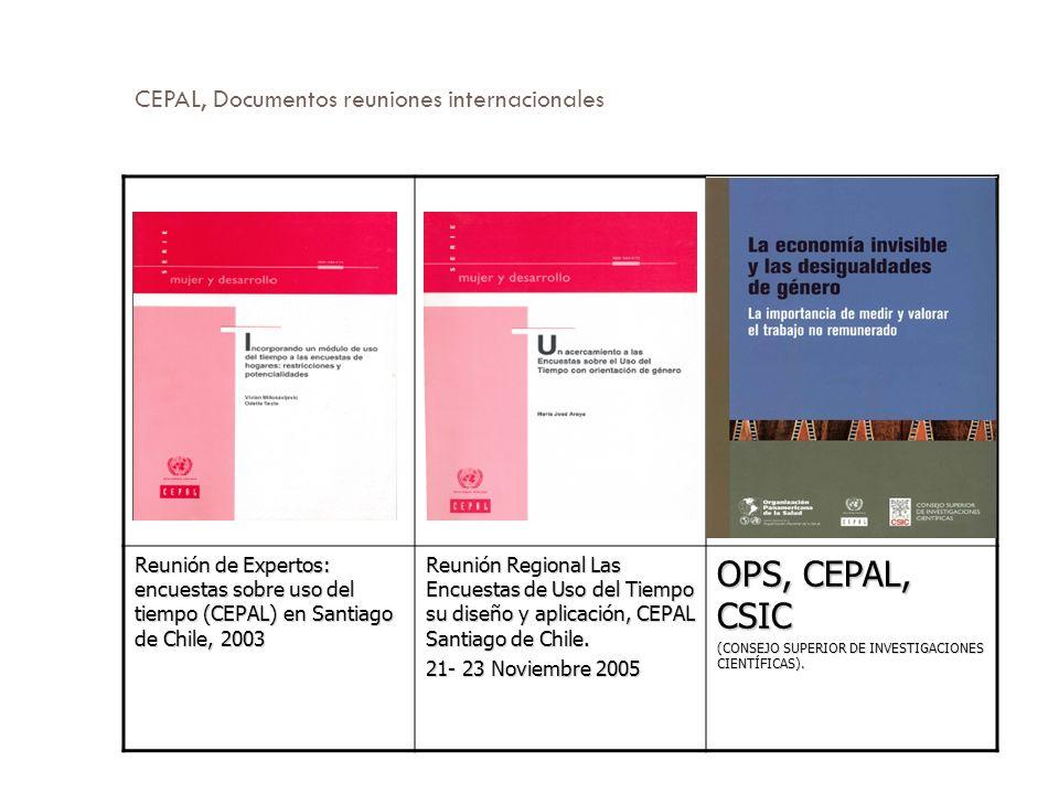 CEPAL, Documentos reuniones internacionales