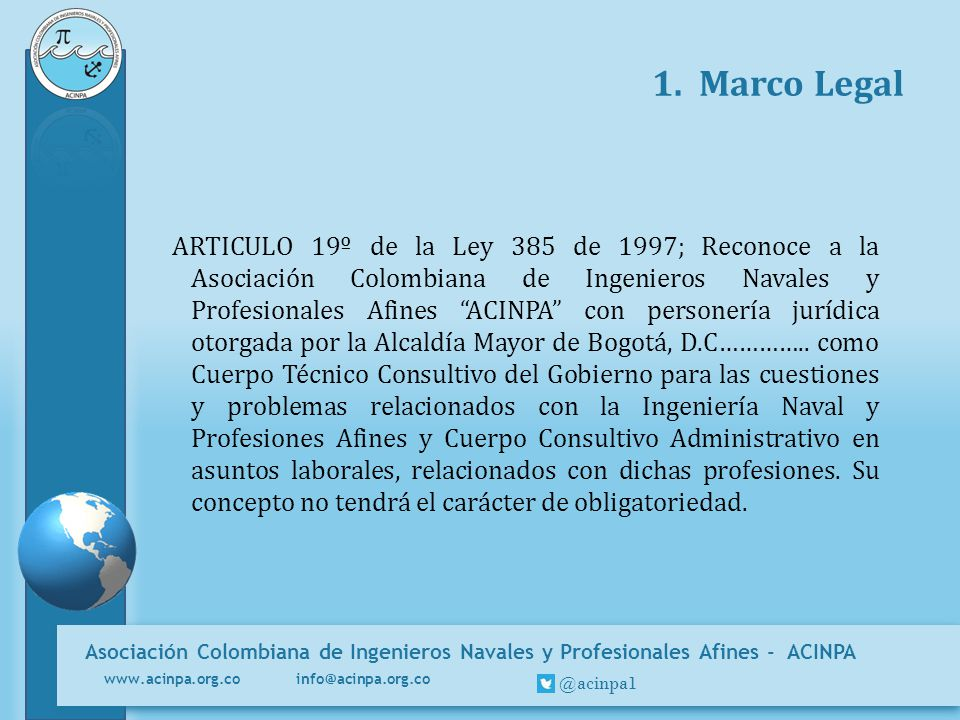 1. Marco Legal