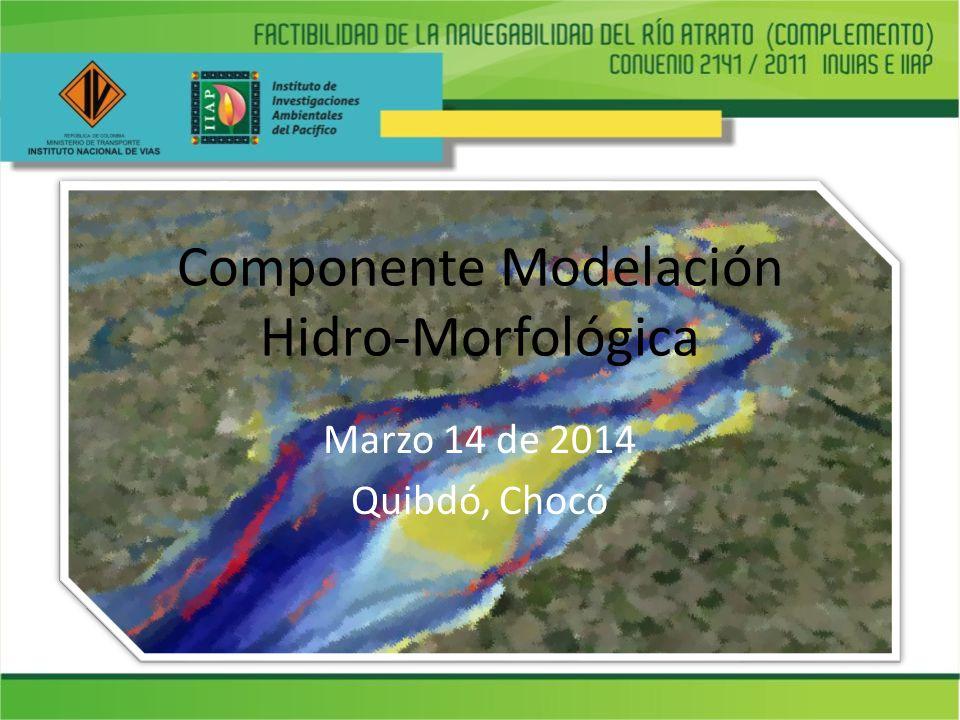 Componente Modelación Hidro-Morfológica