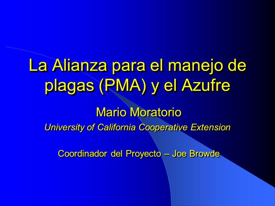 La Alianza para el manejo de plagas (PMA) y el Azufre