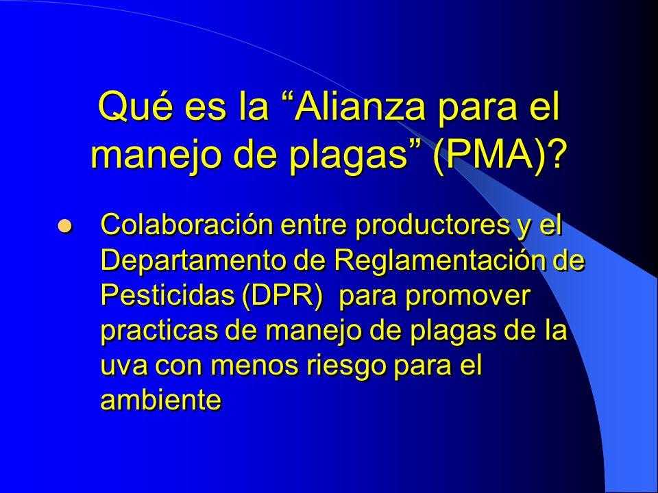 Qué es la Alianza para el manejo de plagas (PMA)