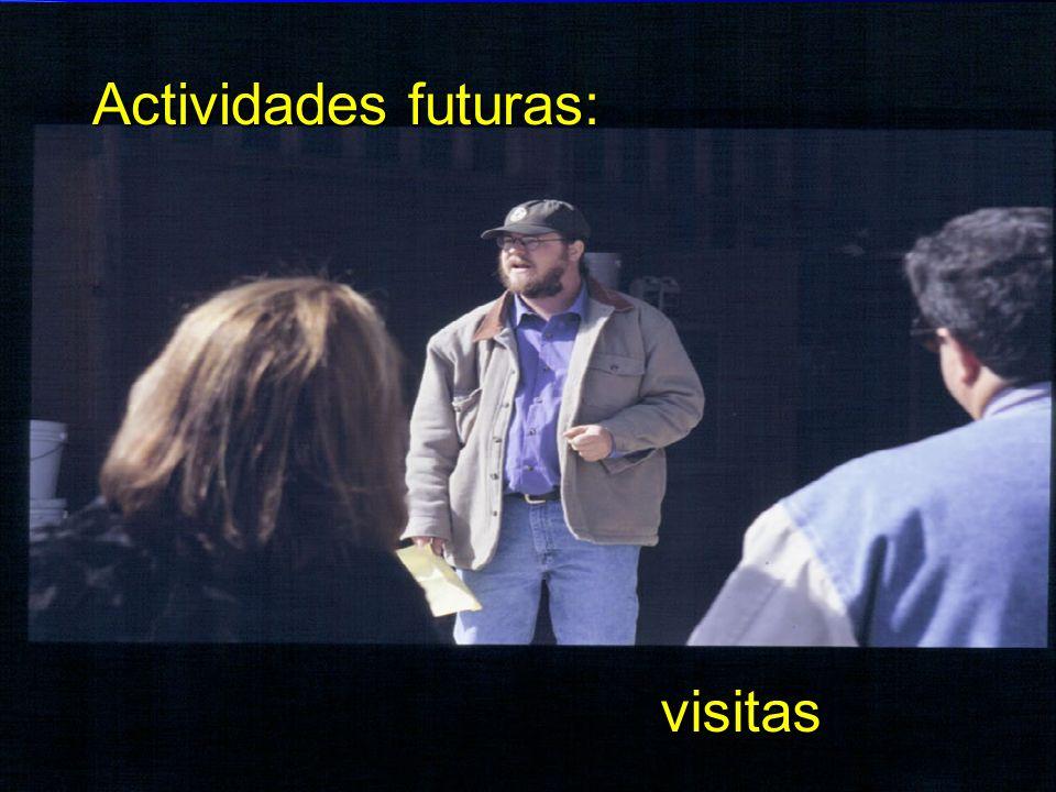 Actividades futuras: visitas