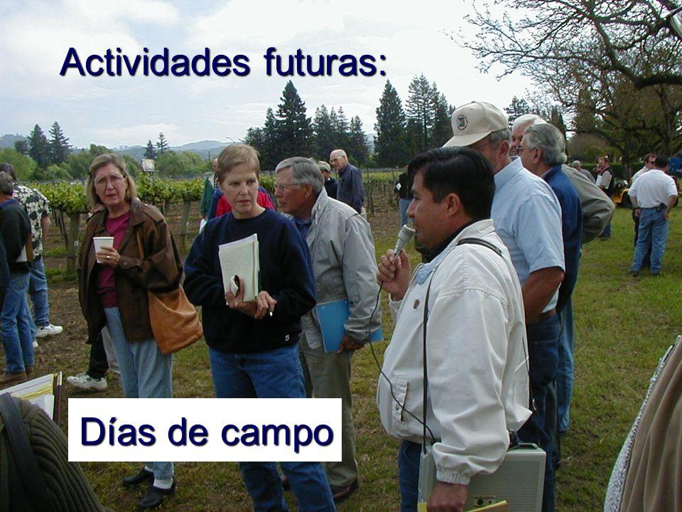 Actividades futuras: Días de campo