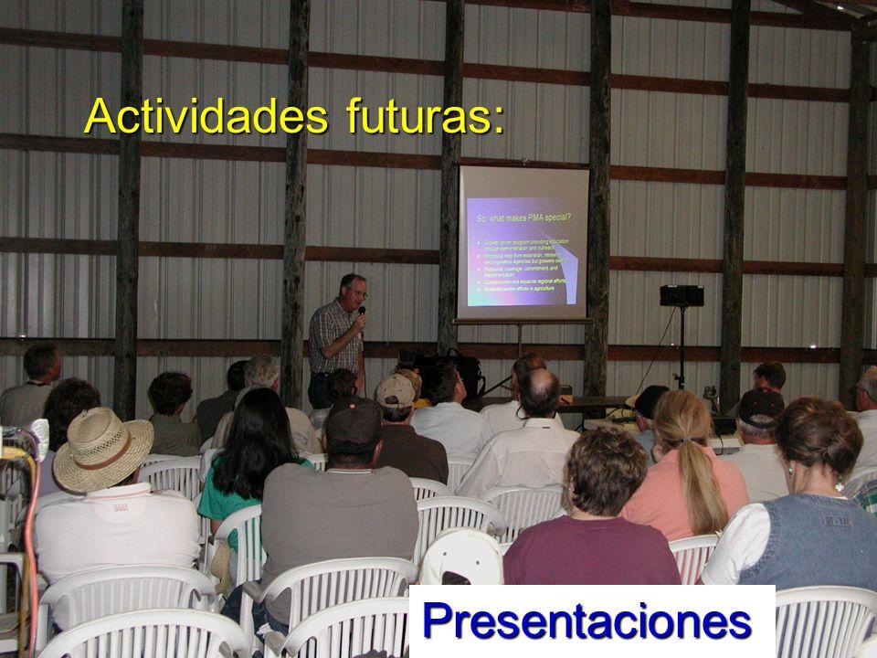 Actividades futuras: Presentaciones