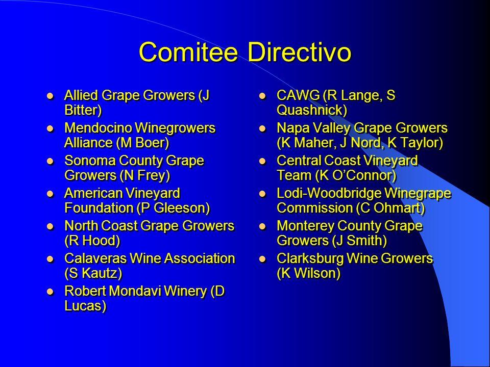 Comitee Directivo Allied Grape Growers (J Bitter)