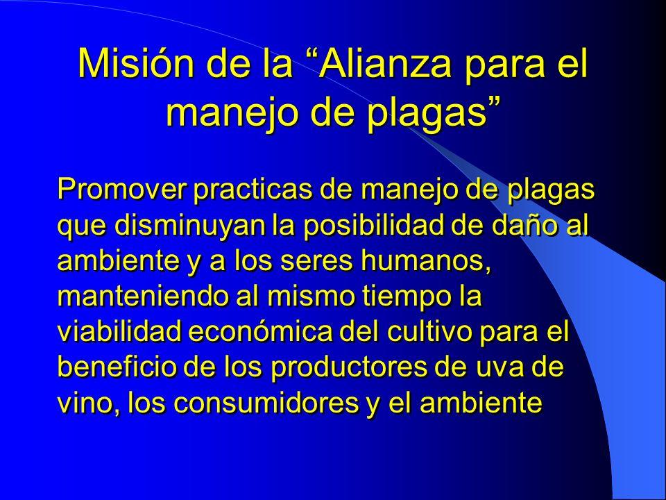 Misión de la Alianza para el manejo de plagas