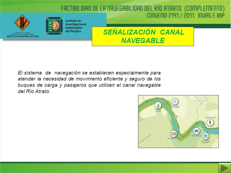 SEÑALIZACIÓN CANAL NAVEGABLE