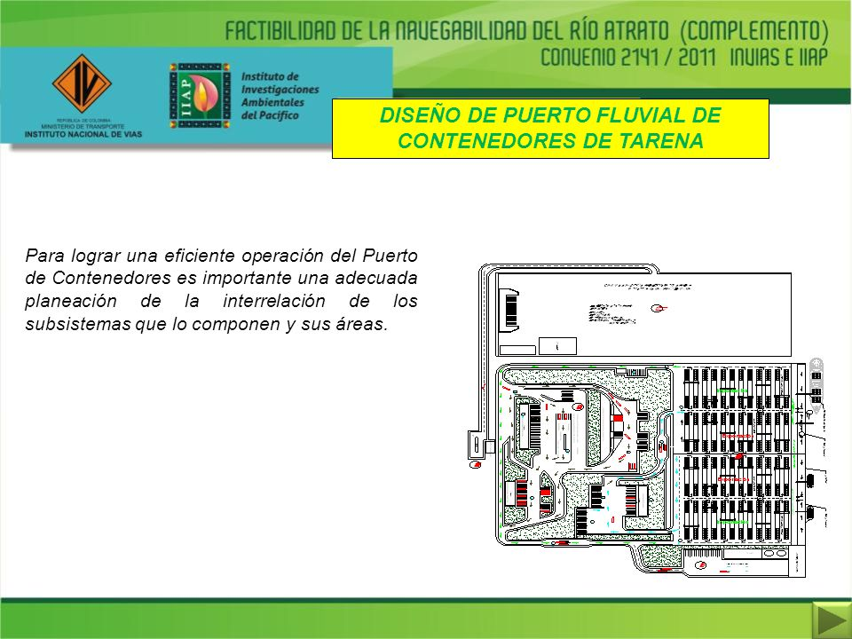 DISEÑO DE PUERTO FLUVIAL DE CONTENEDORES DE TARENA
