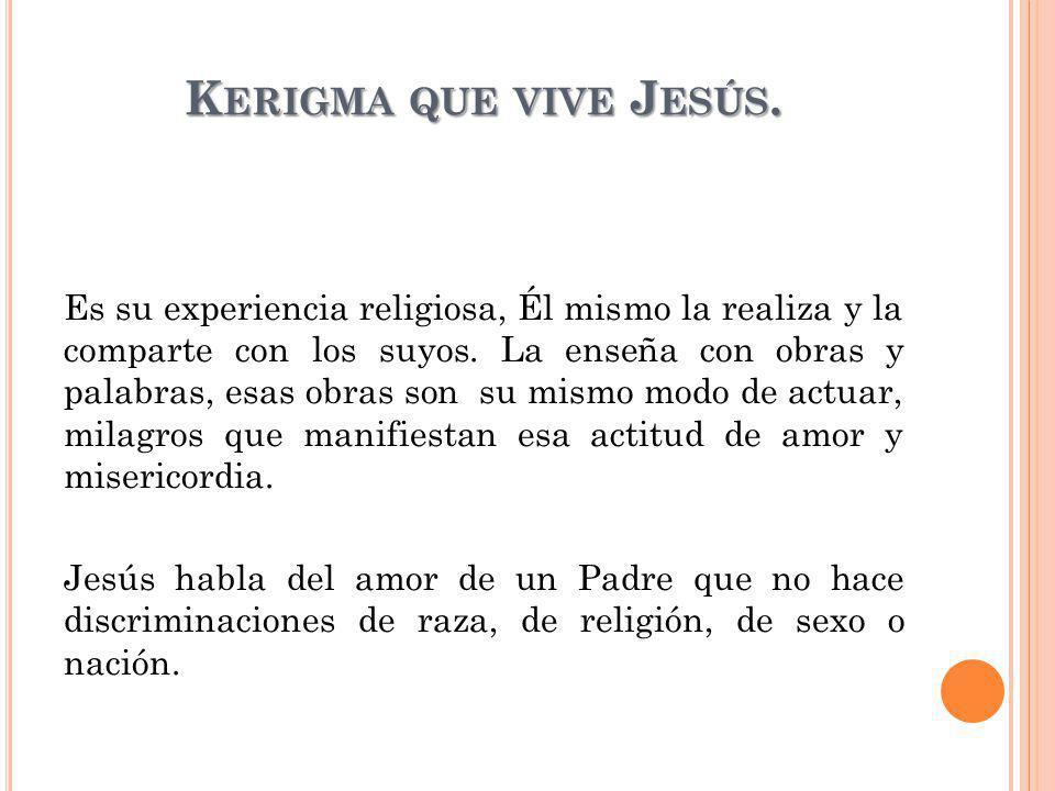 Kerigma que vive Jesús.