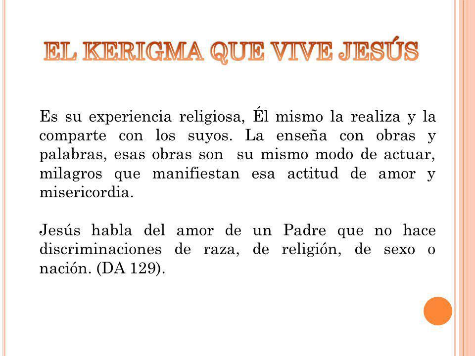 EL KERIGMA QUE VIVE JESÚS