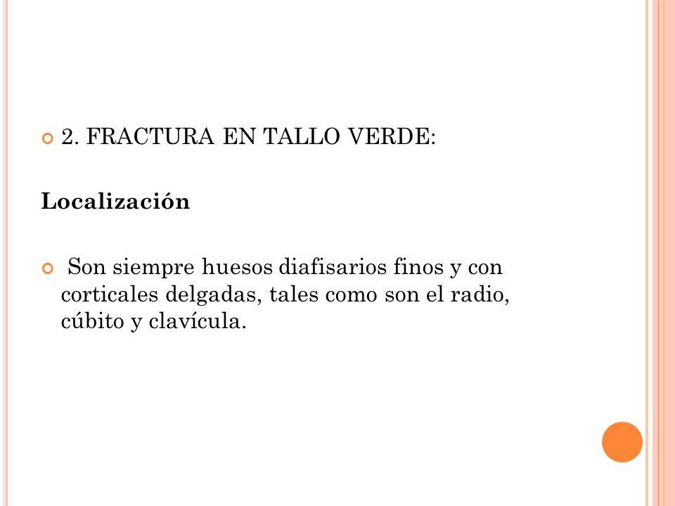 2. FRACTURA EN TALLO VERDE:
