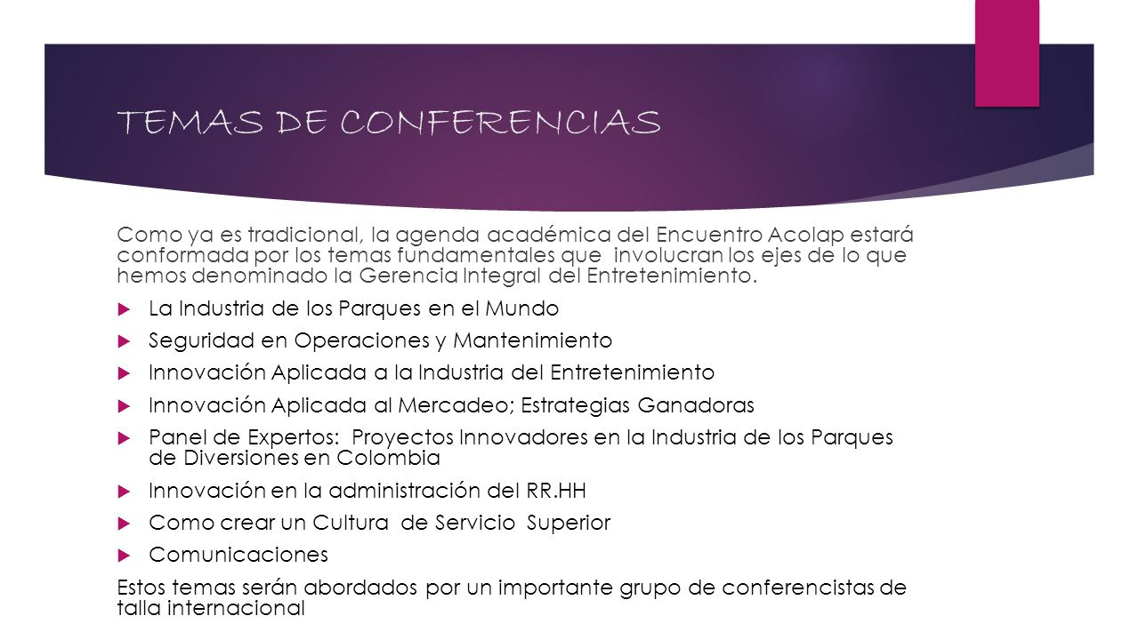 TEMAS DE CONFERENCIAS
