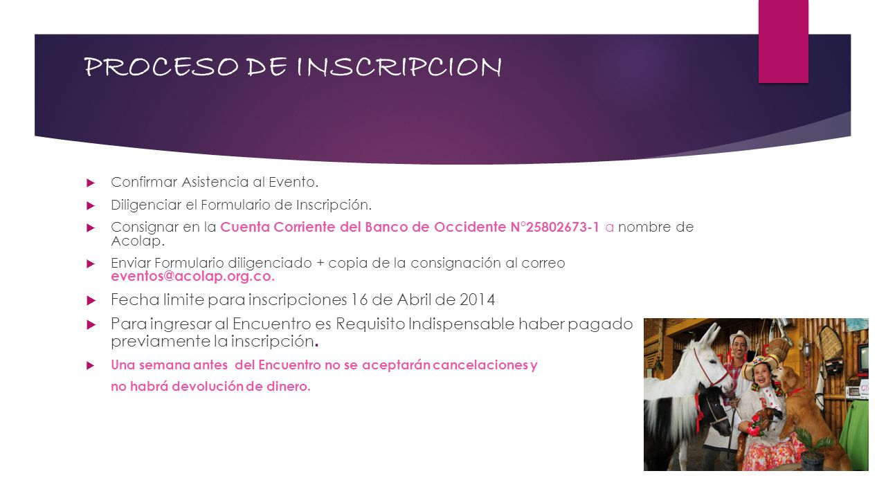 PROCESO DE INSCRIPCION