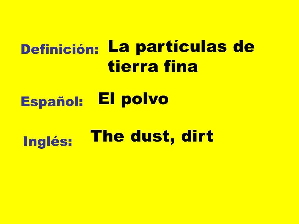 La partículas de tierra fina