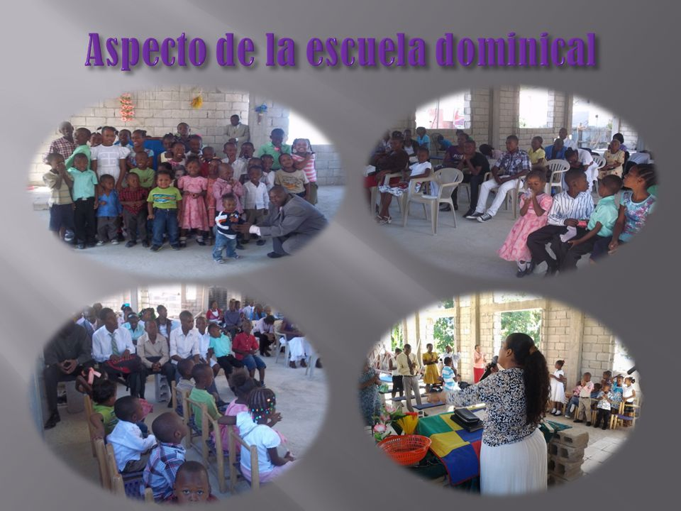 Aspecto de la escuela dominical