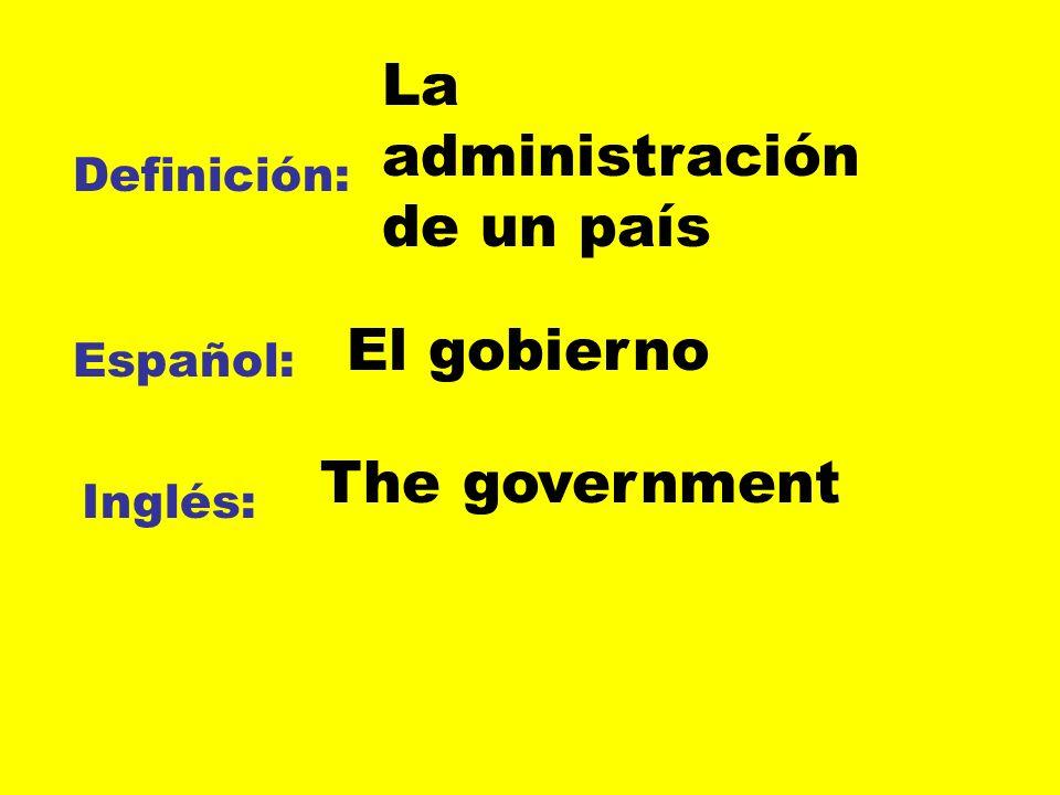 La administración de un país