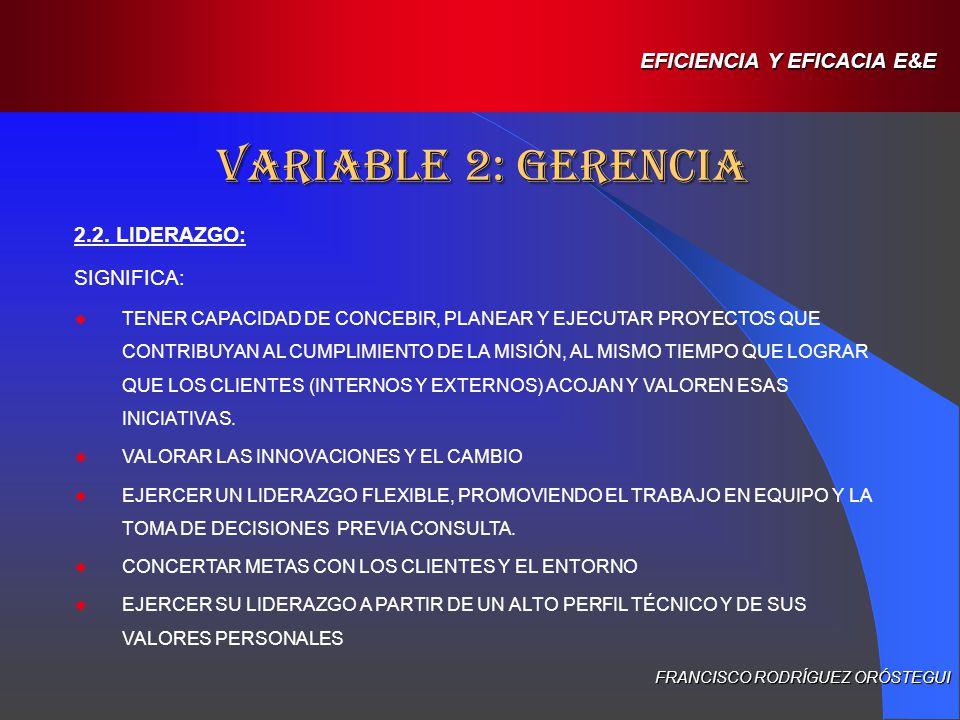 EFICIENCIA Y EFICACIA E&E