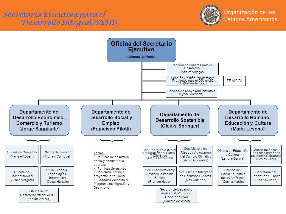 Secretaría Ejecutiva para el Desarrollo Integral (SEDI)
