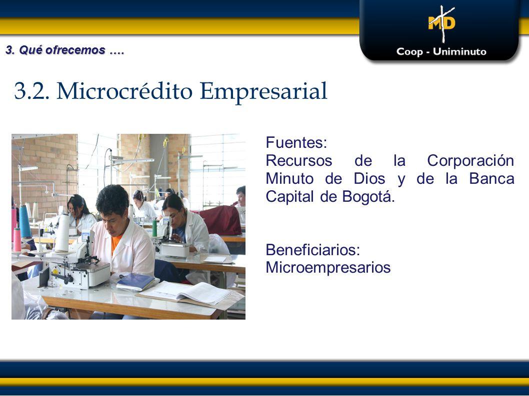 3.2. Microcrédito Empresarial