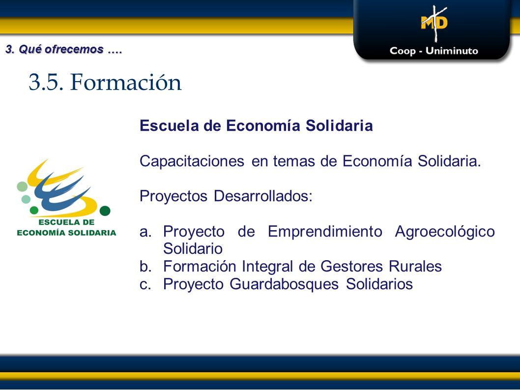 3.5. Formación Escuela de Economía Solidaria