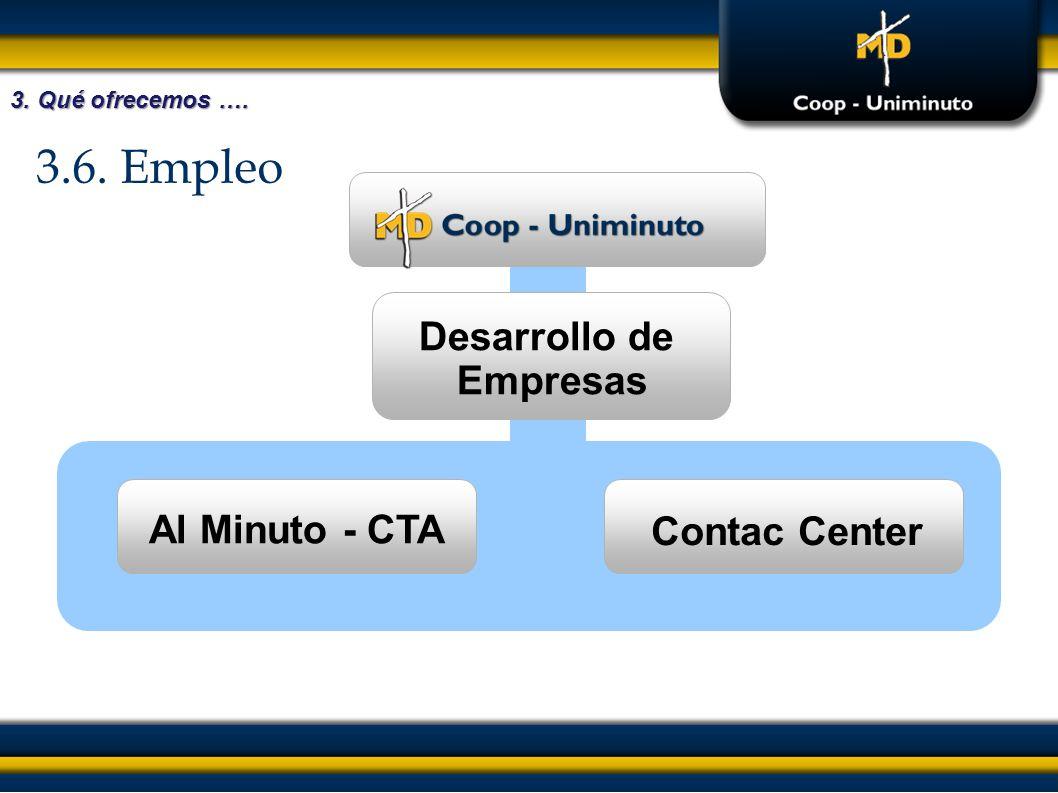3.6. Empleo Desarrollo de Empresas Al Minuto - CTA Contac Center