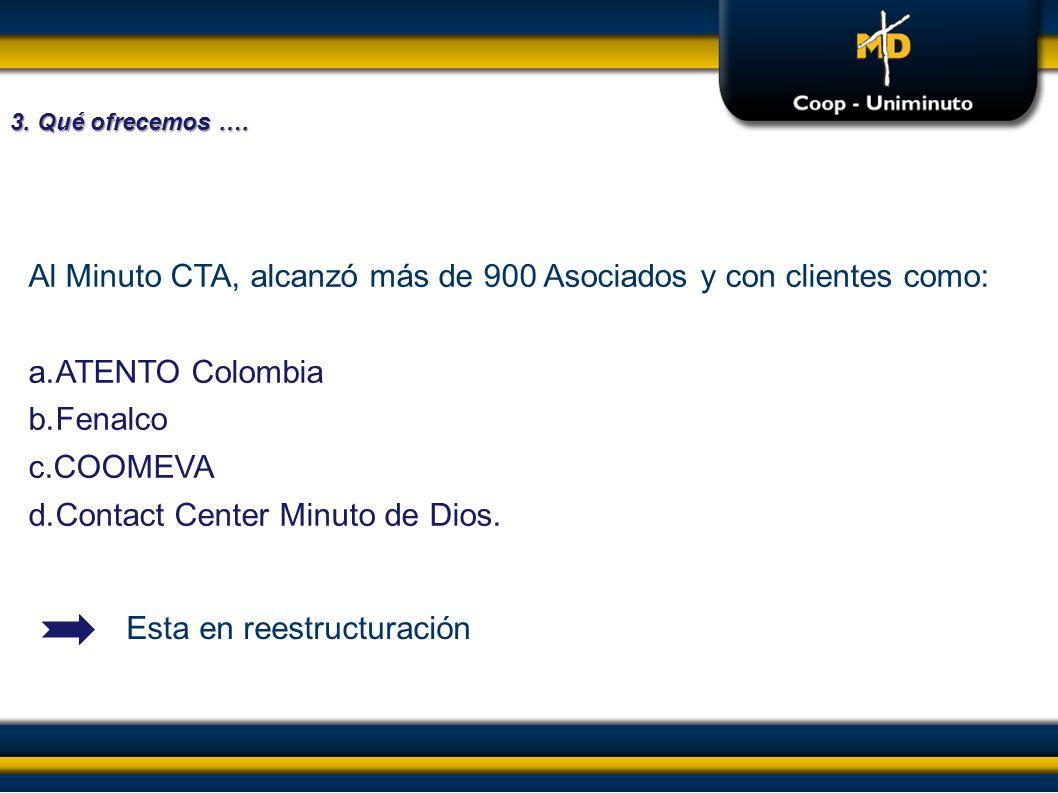 Al Minuto CTA, alcanzó más de 900 Asociados y con clientes como:
