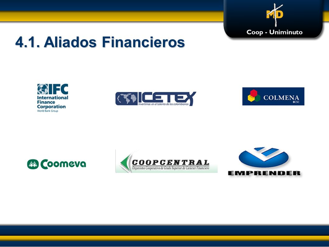 4.1. Aliados Financieros