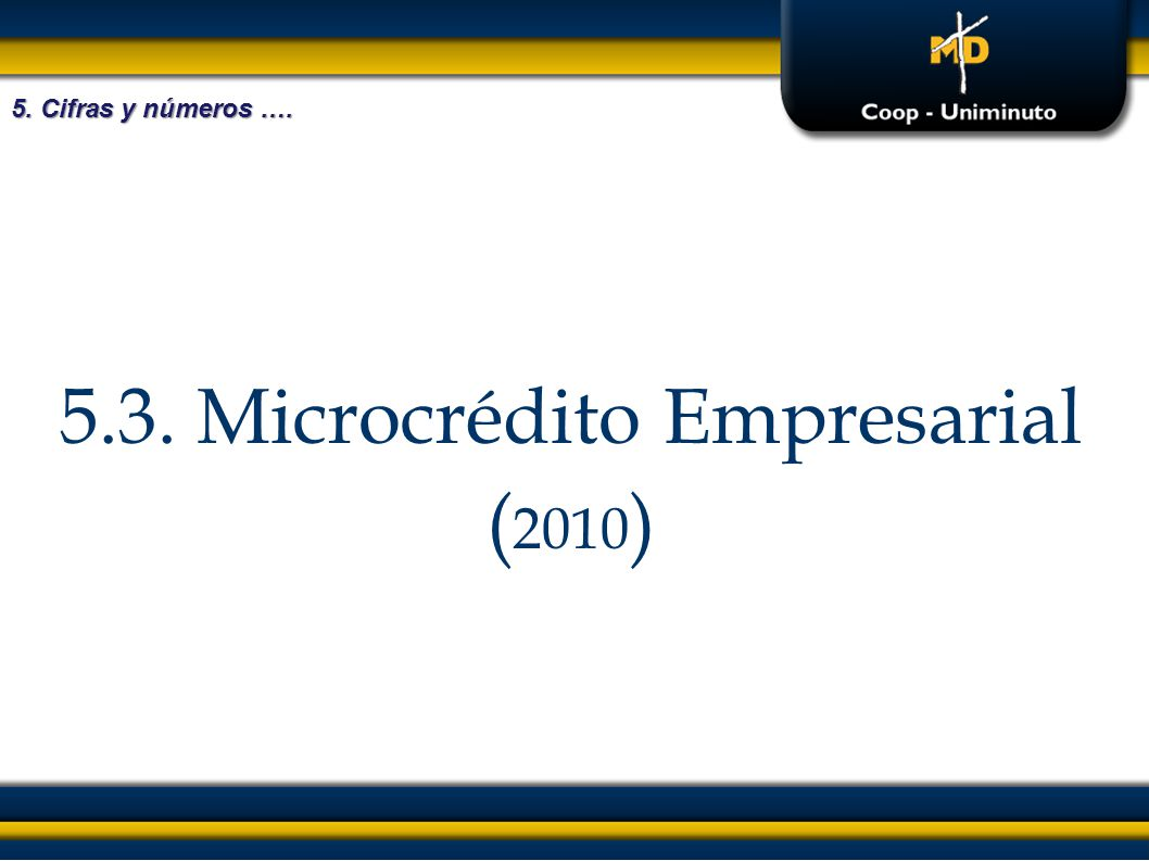 5.3. Microcrédito Empresarial