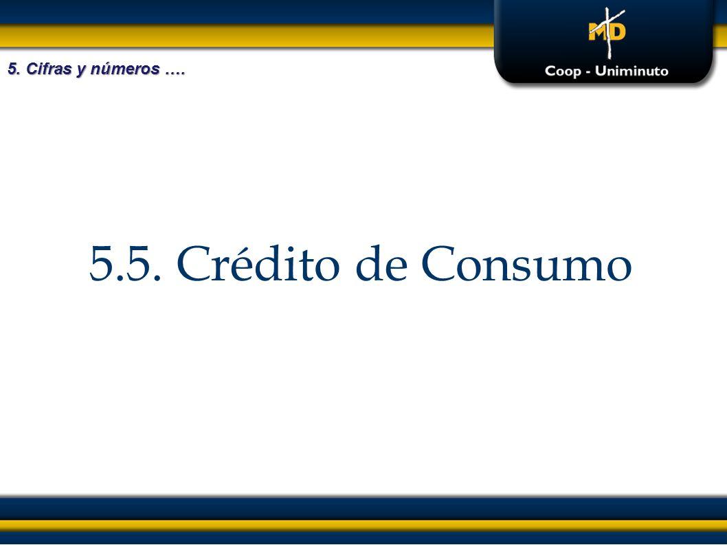 5. Cifras y números …. 5.5. Crédito de Consumo
