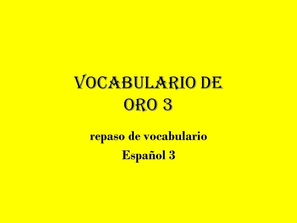 repaso de vocabulario Español 3