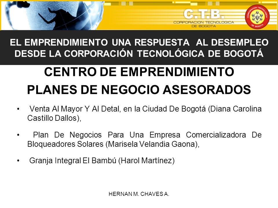 CENTRO DE EMPRENDIMIENTO PLANES DE NEGOCIO ASESORADOS