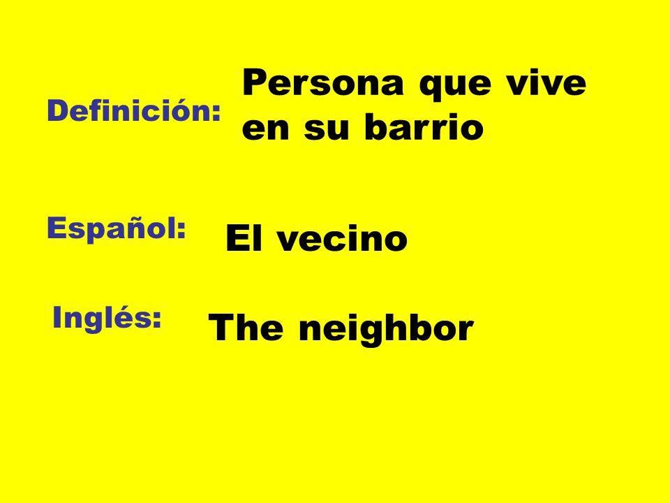 Persona que vive en su barrio