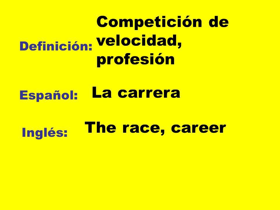 Competición de velocidad, profesión