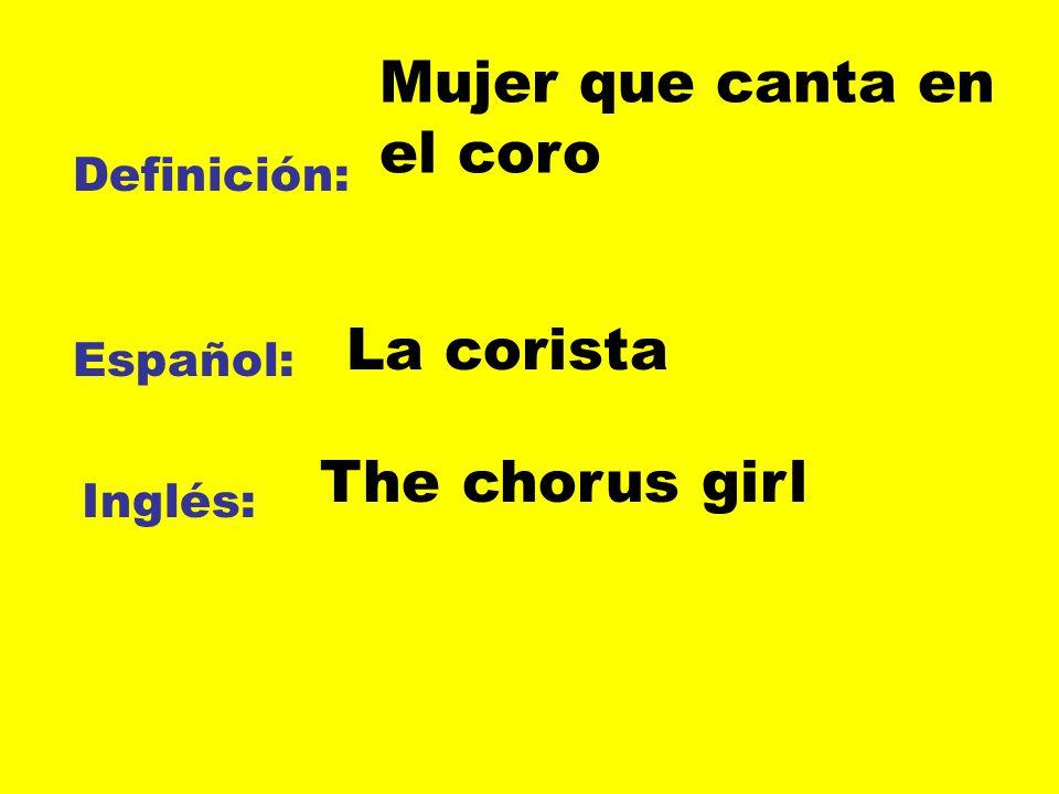 Mujer que canta en el coro