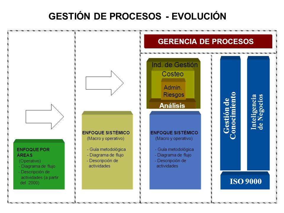 GESTIÓN DE PROCESOS - EVOLUCIÓN Inteligencia de Negocios