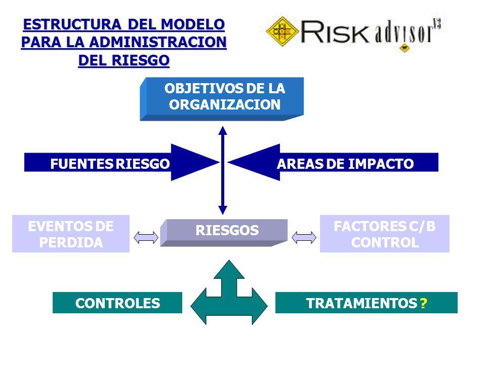 ESTRUCTURA DEL MODELO PARA LA ADMINISTRACION DEL RIESGO