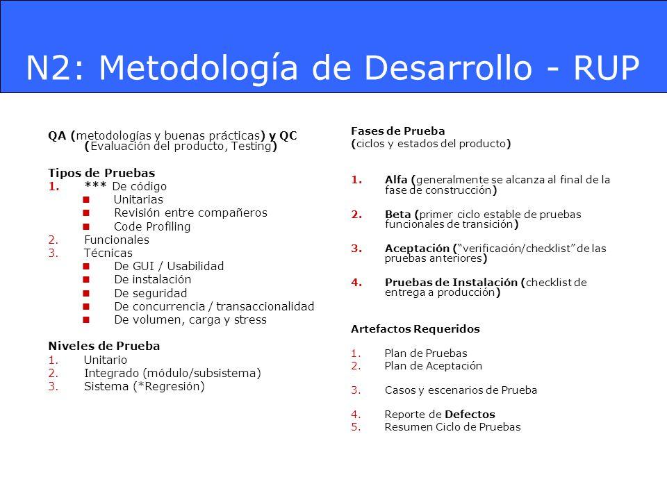 N2: Metodología de Desarrollo - RUP