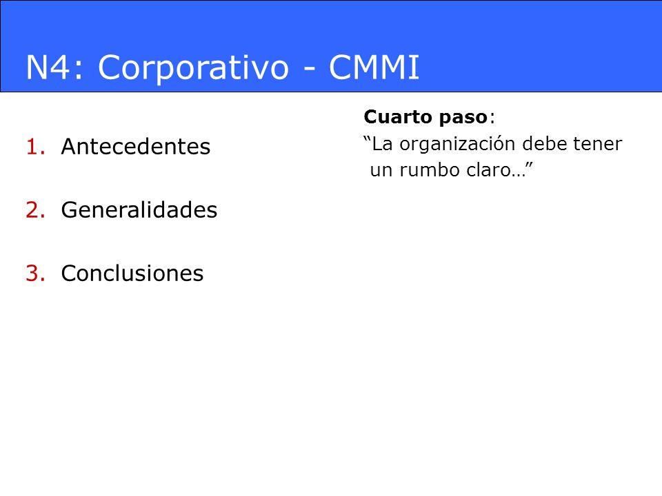 N4: Corporativo - CMMI Antecedentes Generalidades Conclusiones