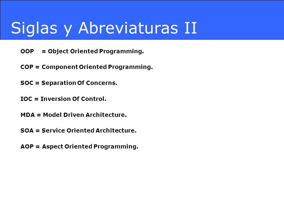 Siglas y Abreviaturas II