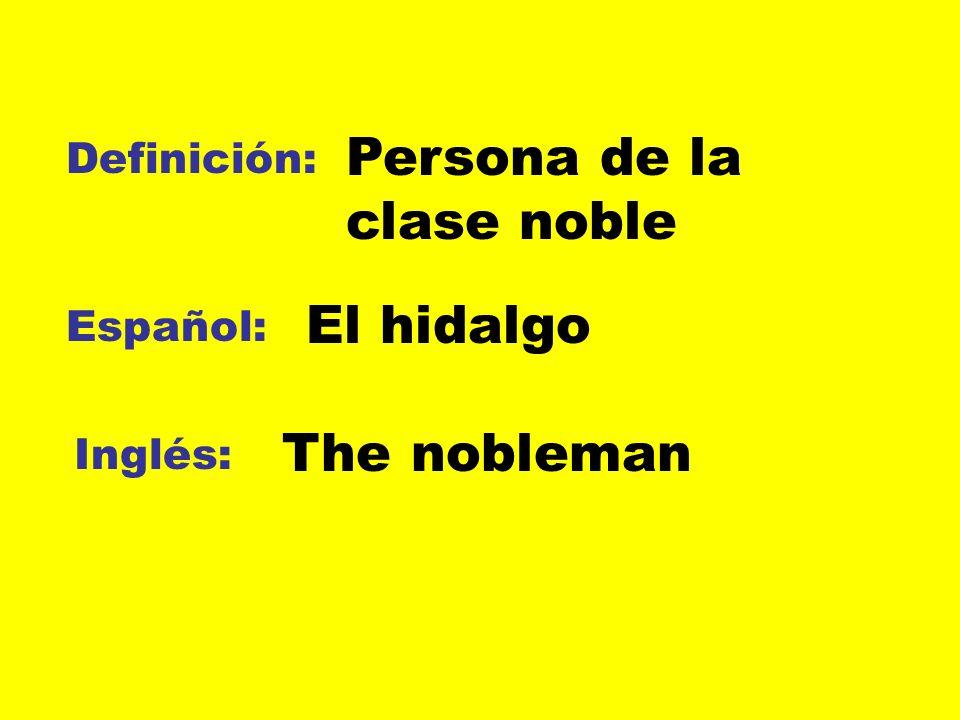 Persona de la clase noble