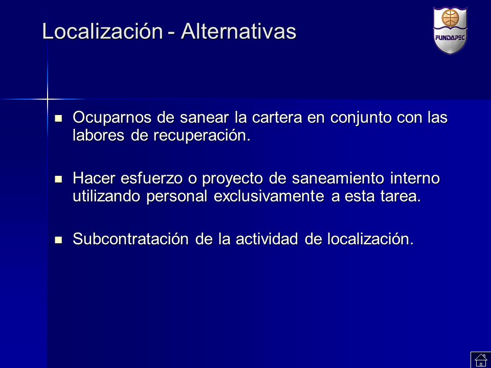 Localización - Alternativas
