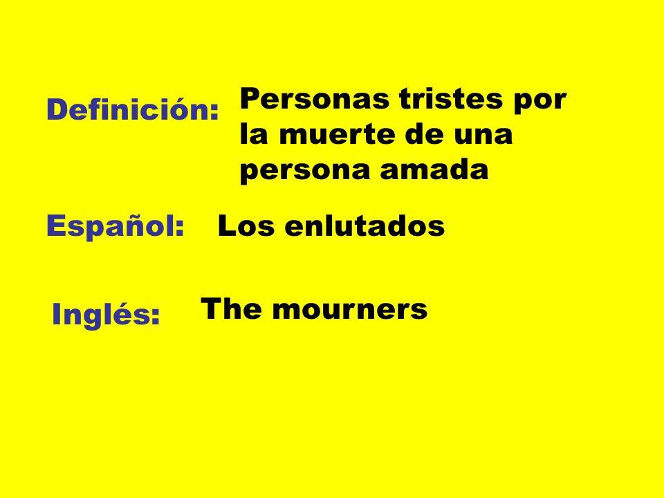 Personas tristes por la muerte de una persona amada