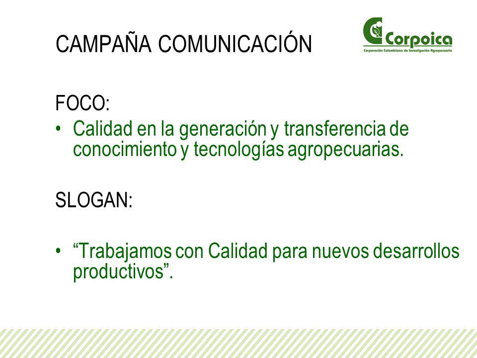CAMPAÑA COMUNICACIÓN FOCO: