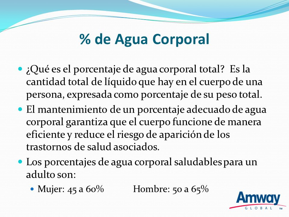 % de Agua Corporal