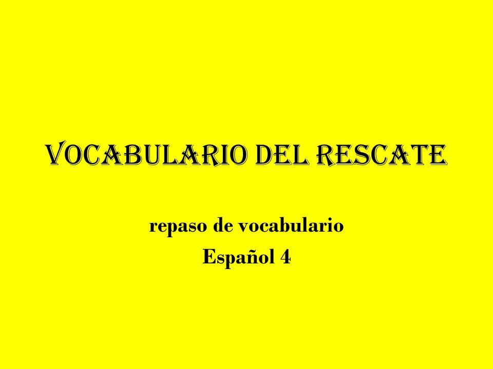 Vocabulario del rescate