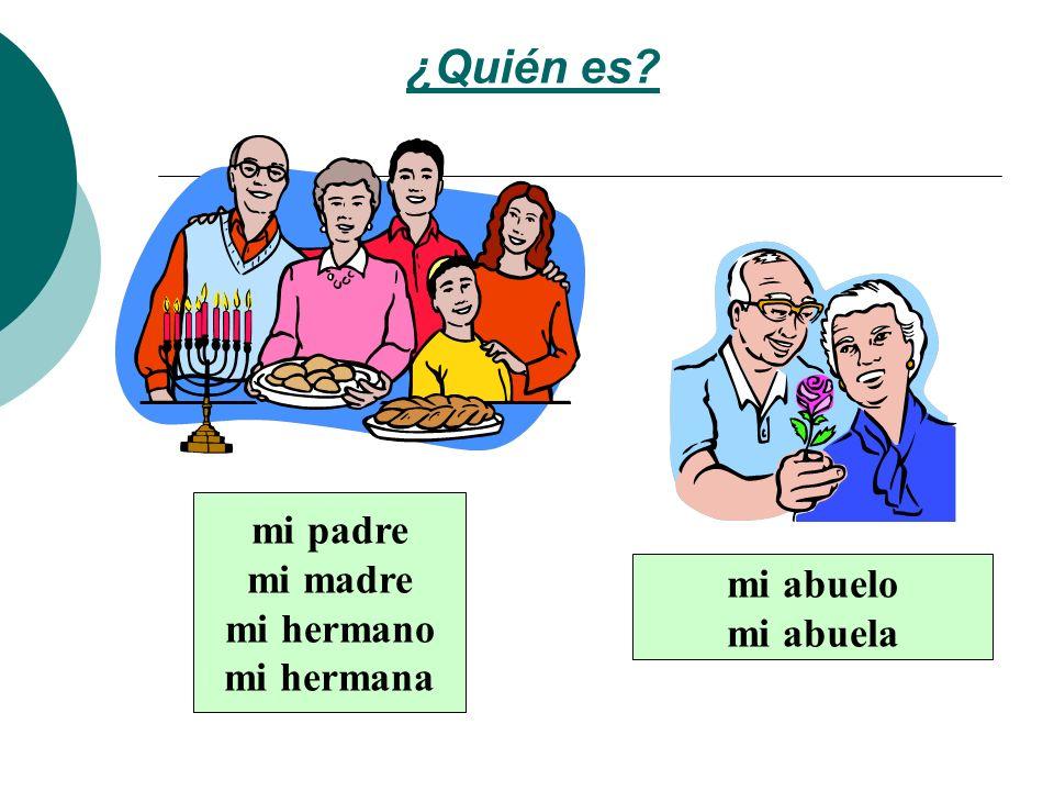 ¿Quién es mi padre mi madre mi hermano mi hermana mi abuelo mi abuela